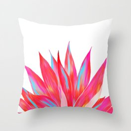 Sunny Agave Fringe Illustration Throw Pillow
