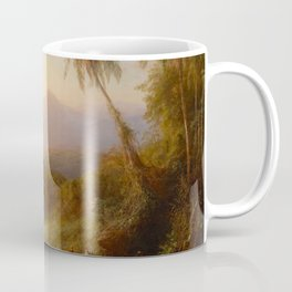 Frederic Edwin Church - Valley of Santa Ysabel, New Granada - Hudson River School Oil Painting Coffee Mug