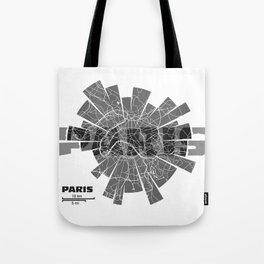Paris Map Tote Bag