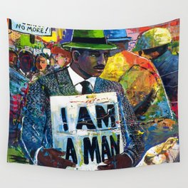 African American Atlanta Civil Rights Memorial Portrait No. 1 Wall Tapestry