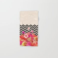 Chevron Flora II Hand & Bath Towel