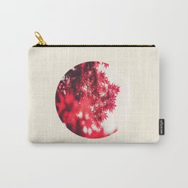 Transparent Red Japanese Maple Round Photo Carry-All Pouch