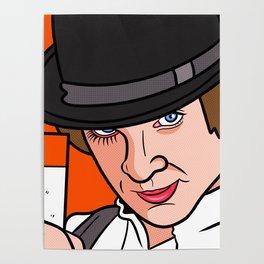 Malcolm McDowell Clockwork Poster