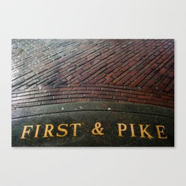 First & Pike Canvas Print