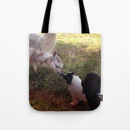 Puppy Llama Love Tote Bag
