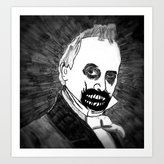 15. Zombie James Buchanan  Art Print