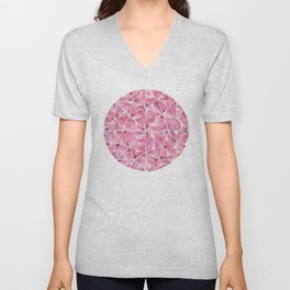 Red Round Gem Unisex V-Neck