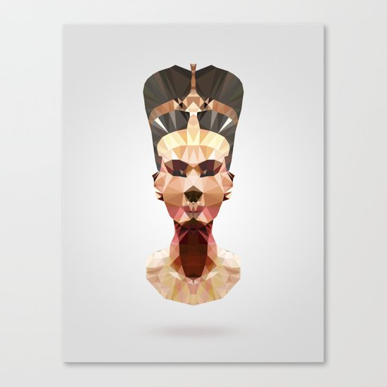 Polygon Heroes - Nefertiti Canvas Print