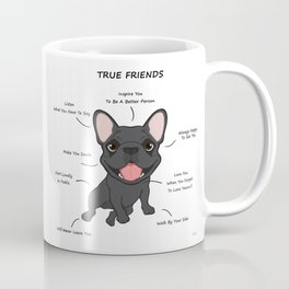 True Friends - Blue Frenchie Coffee Mug