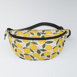 Mediterranean Summer Lemons Pattern Fanny Pack