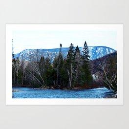 Blue Mountain River Art Print