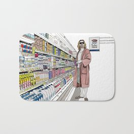 Jeffrey Lebowski and Milk. Bath Mat