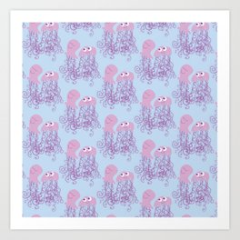 Jellyfish Love Art Print