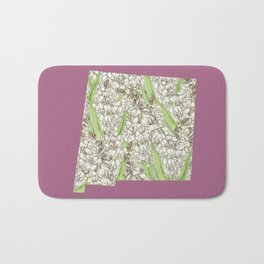 New Mexico in Flowers Bath Mat