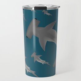 Hammerhead shark school Travel Mug
