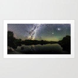Henry Lake New Zealand Under Southern Hemisphere Skies By Olena Art Art Print