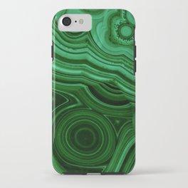 GREEN MALACHITE STONE PATTERN iPhone Case