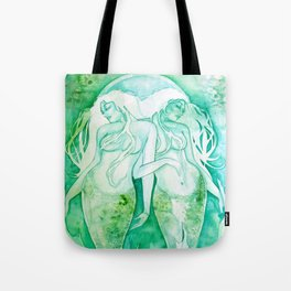 Goddess of Pisces - A Water Element Tote Bag