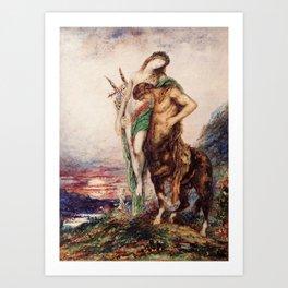 "Odilon Redon ""Dead poet borne by centaur"" Art Print"