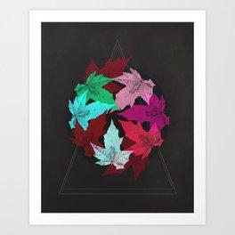 Leaves & Colors Art Print