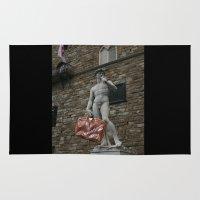 david olenick Area & Throw Rugs featuring david by Francesco Mestria