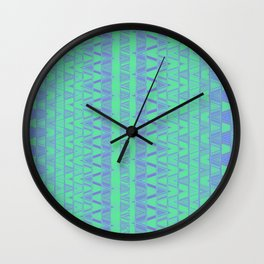 Aztec pattern in turquoise Wall Clock