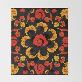 Traditional russian folk Throw Blanket