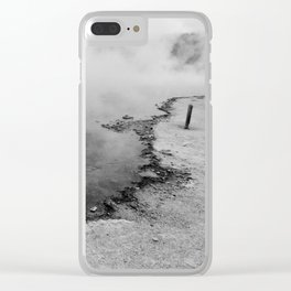 The Geyser Edge Clear iPhone Case
