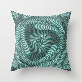 Mint green stripe design Throw Pillow