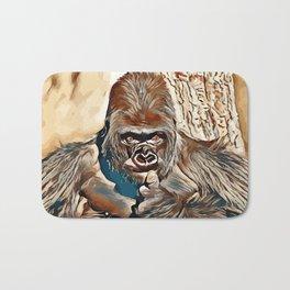 Thinking Gorilla Bath Mat