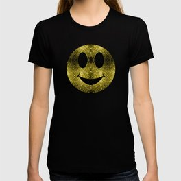 Sparkly Smiley Yellow Gold sparkles T-shirt