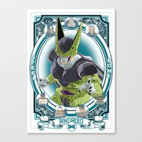 dragonball Canvas Prints featuring DragonBall Z - Android House by Art of Mike