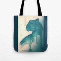 panther Tote Bags featuring Panther by elisacalderoni92