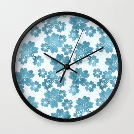 Colors blue on white Wall Clock