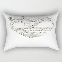 Chanson L'Amour Vintage Romance Rectangular Pillow