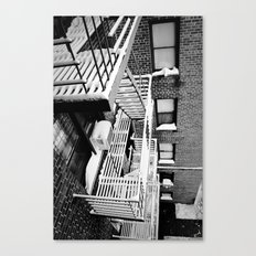 Fire Escape on Snowy Day Canvas Print