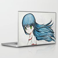 anime Laptop & iPad Skins featuring Anime girl by Ruby_Dag