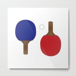 Ping Pong Rackets Metal Print