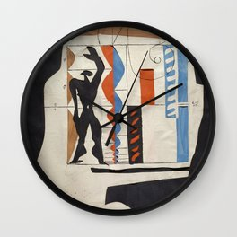 The Modulor Sketch by Le Corbusier Wall Clock