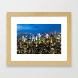 Manhattan - New York Framed Art Print