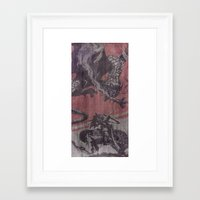 fight Framed Art Prints featuring Fight by Last Call