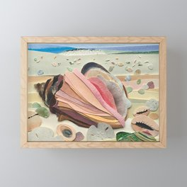 Sandy Shell Beach Framed Mini Art Print