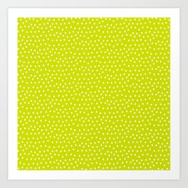 Happy Pattern Neck Gator Green and White Dots Art Print