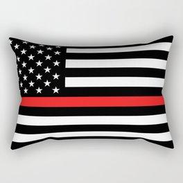 Firefighter: Black Flag & Red Line Rectangular Pillow