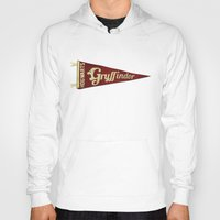 gryffindor Hoodies featuring Gryffindor 1948 Vintage Pennant by Andy Pitts