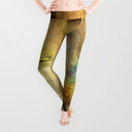 Abstract Bark Leggings