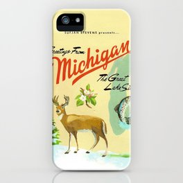 Greetings iphone cases society6 sufjan stevens greetings from michigan the great lake state iphone case m4hsunfo
