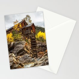 CRYSTAL MILL AUTUMN COLORADO FALL LANDSCAPE Stationery Cards
