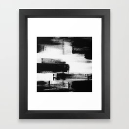 No. 85 Modern abstract black and white painting Framed Art Print