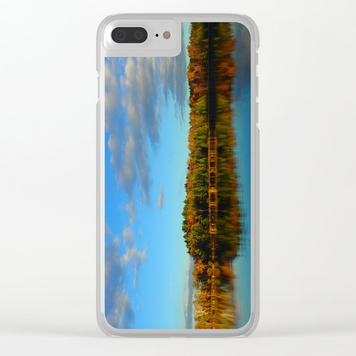 Fall Lake View Clear iPhone Case